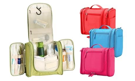 Beauty case impermeabile con gancio e tasche laterali. Vari colori disponibili