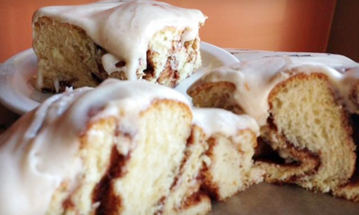 Cinnamon Productions - Multiple Locations: $10 for Two Groupons, Each Good for $10 Worth of Cafe Food and Baked Goods at Cinnamon Productions (Half Off).