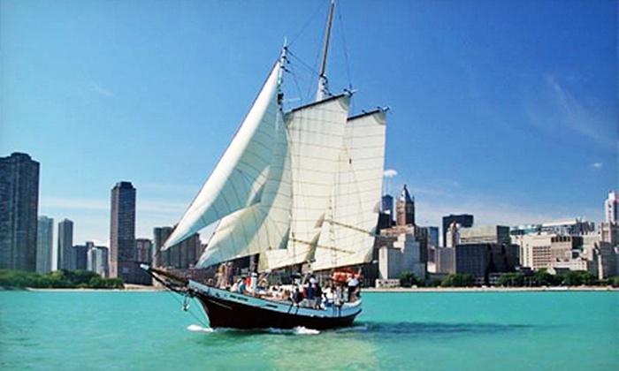 Tall Ship Red Witch, LLC - Kenosha Harbor: Cocktail Skyline Sail or Fireworks Cruise from Tall Ship Red Witch, LLC (Half Off)