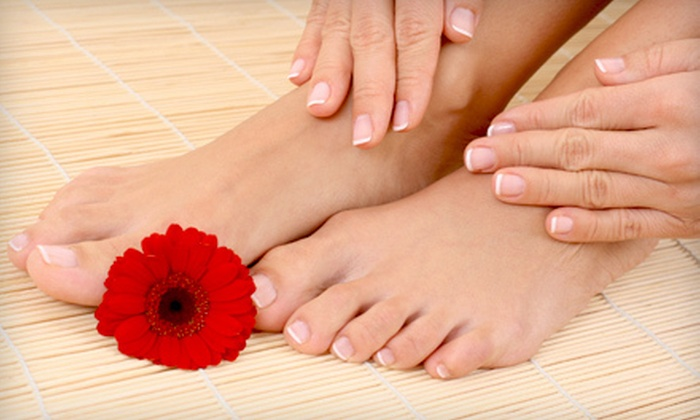 Mist Salon & Day Spa - Edmonton: Express Mani-Pedi, Classic Mani-Pedi with Hairstyle, or Holiday Spa Package at Mist Salon & Day Spa (Up to 57% Off)