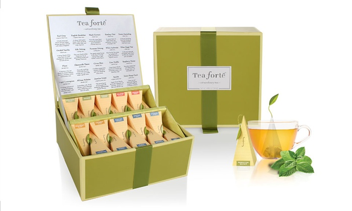 Tea Forte Sampler Collection: $28.99 for a Tea Forte Tea Chest Sampler Collection ($45 List Price). Free Shipping.