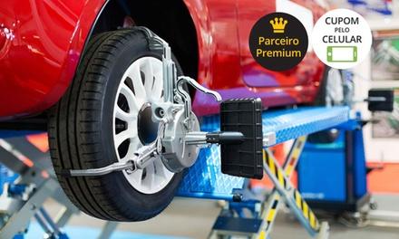 JPS Centro Automotivo – Irajá: alinhamento, balanceamento, cambagem, rodízio e revisão (com opção de óleo e A/C)