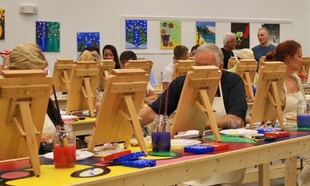 Painting Class for One, or Couples Painting Class at Splash Paint and Wine (Up to 51% Off)