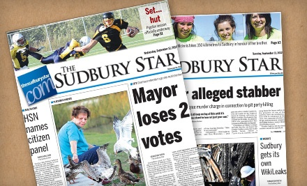 $114.99 for 12-Month Monday–Saturday Subscription to The Sudbury Star ($231.34 Value)