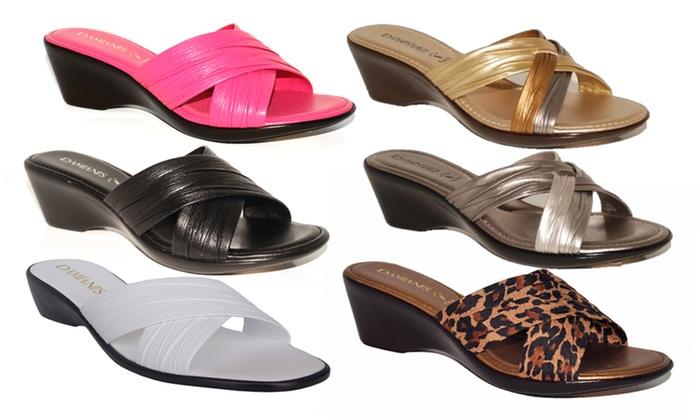 900933a3da Damiani By Italian Shoemakers Women's Open-Toe Wedge Sandals