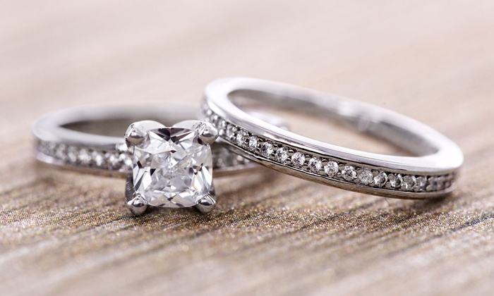 164a50f79a3 Up To 89% Off on Lesa Michele 3.64 CTTW Ring Set | Groupon Goods