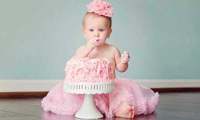Baby Photoshoot With Cake