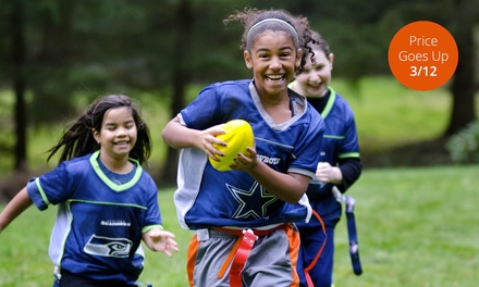 NFL Flag Football Registration for One or USA Football FUNdamentals Sports Camp at Pick 6 Sports (59% Off)