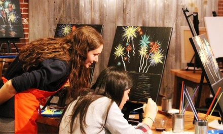 Painting Experience for One, Two, or Four at Muse Paintbar Hingham (Up to 51% Off)