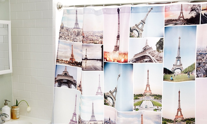 Collage.com: Collage.com Custom Photo Shower Curtain