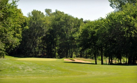 18 holes of golf with cart rental for two people: Redeemable Monday-Friday