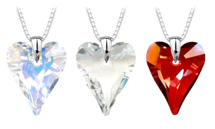 Heart Pendant in Sterling Silver Made with Genuine Swarovski Elements