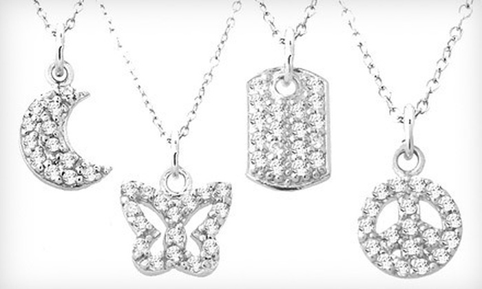 Sterling-Silver Pendant Necklace: $10 for a Sterling-Silver and Cubic-Zirconia Pendant Necklace ($19.99 List Price). Nine Styles Available.