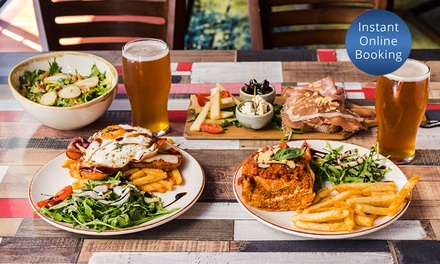 3Course Mod Oz Meal + Wine or Beer: 2 $49, 4 $98 or 6 People $147 at On The Rocks Bar & Bistro Up to $327 Value