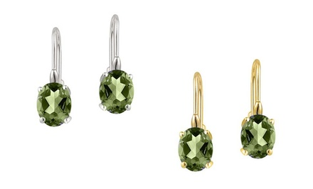 1 or 2 Pairs of Genuine Peridot Gemstone Drop Earrings