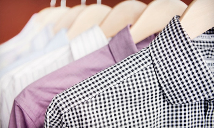 Starbright Cleaners - Multiple Locations: Dry-Cleaning Services at Starbright Cleaners (Up to 59% Off). Three Options Available.