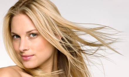 Haircut with Optional Partial or Full Color or Partial Highlights at Designer Hair Studio (Up to 63% Off)