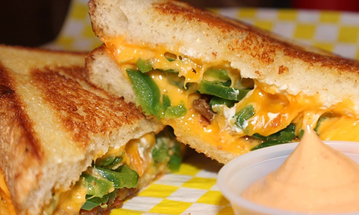 Cheesie's Pub & Grub  - Multiple Locations: Grilled Cheese Meal and Beers for Two or Four at Cheesie's Pub & Grub (Up to 47% Off)