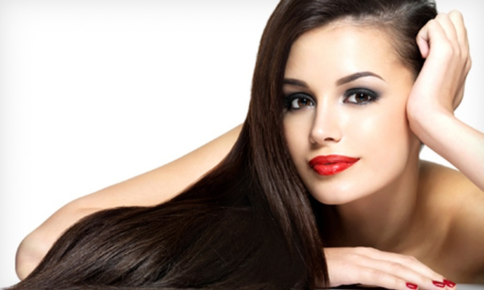 Hair To Dye For - Downtown: Haircut with Blow-Dry and Style, Full Highlights, or Brazilian Blowout at Hair To Dye For (Up to 72% Off)