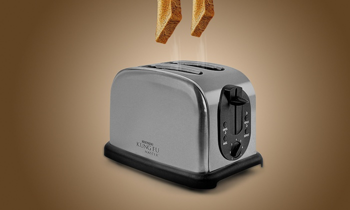 Stainless Steel Two-Slice Toaster: Stainless Steel Two-Slice Toaster.
