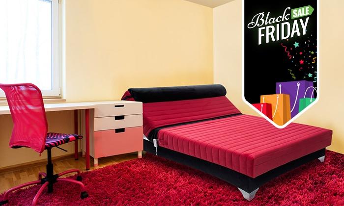 מיוחד ל-BLACK FRIDAY! מיטת נוער אורתופדית חשמלית ברוחב וחצי עם ראש מתכוונן, מזרן פוליניב וארגז מצעים, ב-1,299 ₪ בלבד