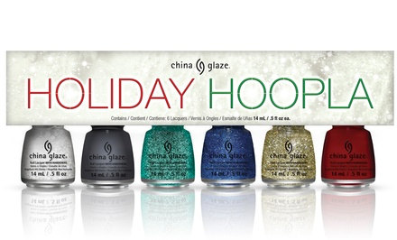 6-Piece China Glaze Holiday Hoopla Nail Lacquer Collection