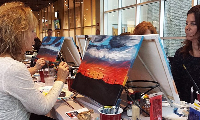 Artists Uncork'd - Artists Uncork'd: Kids' Painting Class for One or Two at Artists Uncork'd (Up to 54% Off)