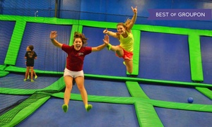AirHeads Trampoline Arena: Unlimited Trampoline Jumping for Two or Four at AirHeads Trampoline Arena (Up to 39% Off)