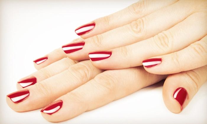 Judy Fann Nail Call at Charisma Salon - Garner: Regular Mani-Pedi or No-Chip Manicure with a Regular Pedicure from Judy Fann Nail Call at Charisma Salon (Up to 53% Off)