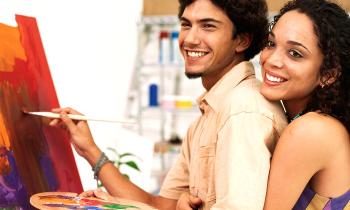 Art Experience - Crossroads: $45 for a BYOB Painting Class for Two from Art Experience at the MOD Gallery ($90 Value)