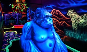 Shankz Black Light Miniature Golf: Two or Four Rounds of Mini Golf at Shankz Black Light Miniature Golf (Up to 28% Off)