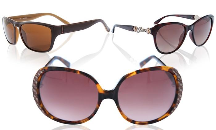 Sonnenbrillen & Zubehör Guess By Marciano Sonnenbrille Damen Gold Reisen