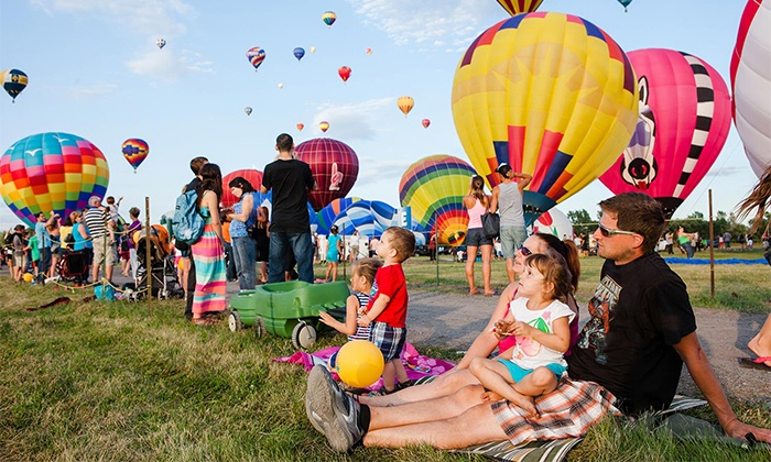 Montgolfieres International Balloon Festival - Municipal Airport: Montgolfieres International Balloon Festival on August 8–16 (Up to 50% Off)