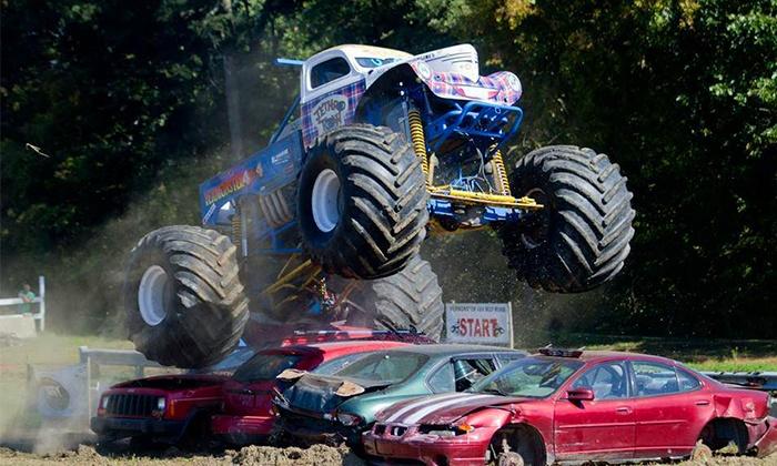 KSR Monster Truck Show - Miller Farms: KSR Monster-Truck Show for One or Two at Miller Farms on Saturday, June 14, or Sunday, June 15 (Up to 58% Off)