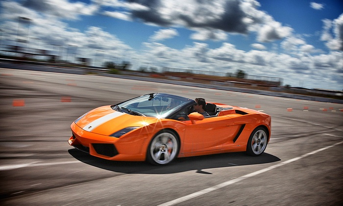 Gotham Dream Cars - Regency Furniture Stadium: High-Speed Drive in a Ferrari or Lamborghini from Gotham Dream Cars ($249 Value)