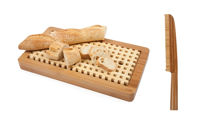 Core Bamboo Lattice Breadboard with Large Bread Slicer: Core Bamboo Lattice Breadboard with Large Bread Slicer. Free Shipping and Returns.