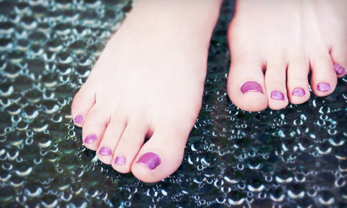 Beyond Nails - Congress Park: One Peppermint or Hot-Stone Pedicure or Three Regular Pedicures at Beyond Nails (Up to 52% Off)