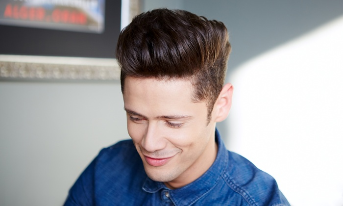 Juan at The J Salon  - Northeast Grand Rapids: Haircut and Highlights or Blowout or Men's Haircut and Optional Grey Coverage (Up to 57% Off)