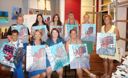 2.5-Hour Painting Class with Mimosas for Two or Four at Mimosa and a Masterpiece (Up to 53% Off)