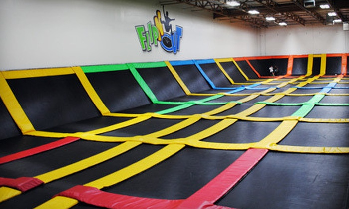FLIPnOUT Fun Centers - North Las Vegas: Two or Four Open-Jump Play Times at FLIPnOUT Fun Centers (Up to 53% Off)