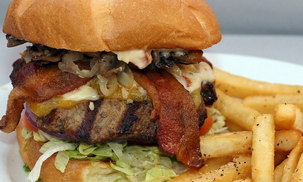 $12 for $20 Worth of Burgers, Fried Pickles, and Made-from-Scratch Comfort Food at Highstrike Grill