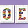 """11""""x14"""" ABC Crayons Alphabet Art on Canvas"""