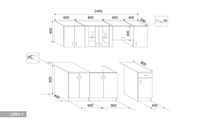 plan de travail cuisine largeur 90 cm great mobilier. Black Bedroom Furniture Sets. Home Design Ideas