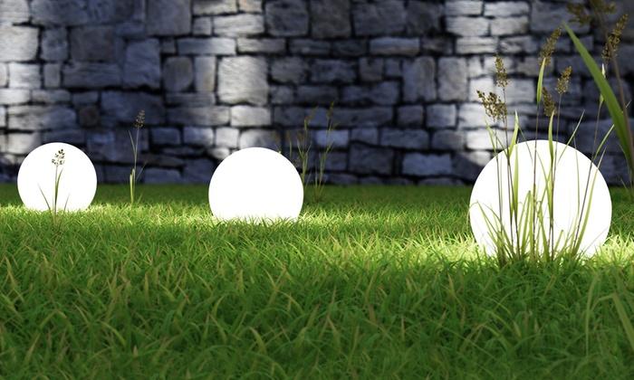 Set lampade a sfera da giardino groupon goods