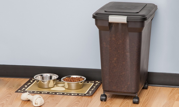 Pet Food Container With Wheels Groupon Goods