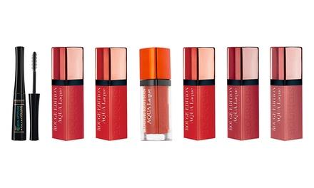 Bourjois Three Rouge Aqua Laque Lipsticks and Queen Attitude Mascara