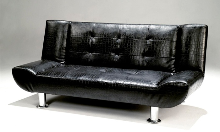 Groupon Goods: Faux Leather Crocodile Skin Sleeper Couch for R2 495 Including Delivery (29% Off)