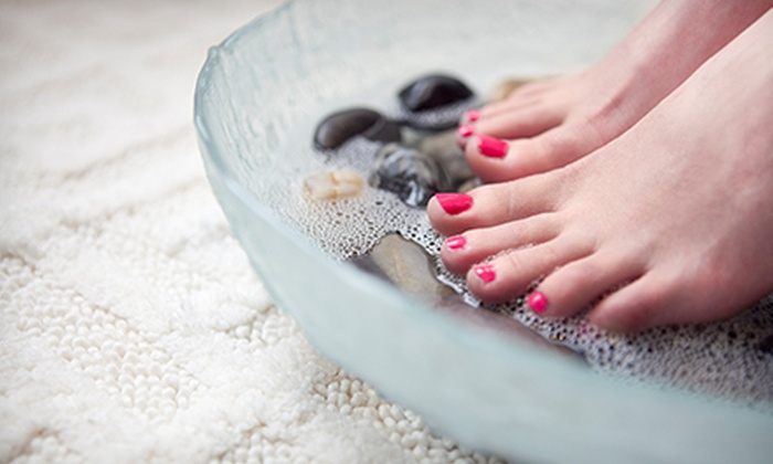 S.O.S (Salon on Seventeenth) - Mont royal: One or Two Mani-Pedis at S.O.S (Salon on Seventeenth) (Up to 60% Off)