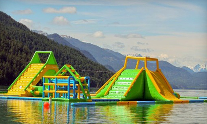 Harrison Watersports Inc. - Harrison Hot Springs: Inflatable Waterpark Visit Monday through Friday or Monday through Sunday at Harrison Watersports Inc. (Up to Half Off)