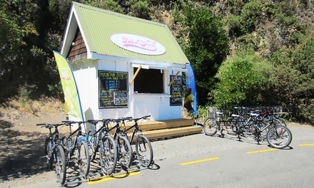 Two Hour Mountain Bike Hire for One ($18), Two ($34) or Four ($60) with The Bike Shed Pencarrow (Up to $120 Value)